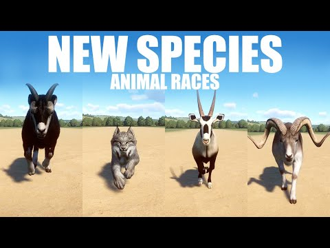 NEW Species  Animal Races in Planet Zoo included Goat, Oryx, Lynx and Sheep |