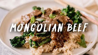 MONGOLIAN BEEF You can Cook in Minutes - Easy Chinese Mongolian Beef Recipe | HONEYSUCKLE