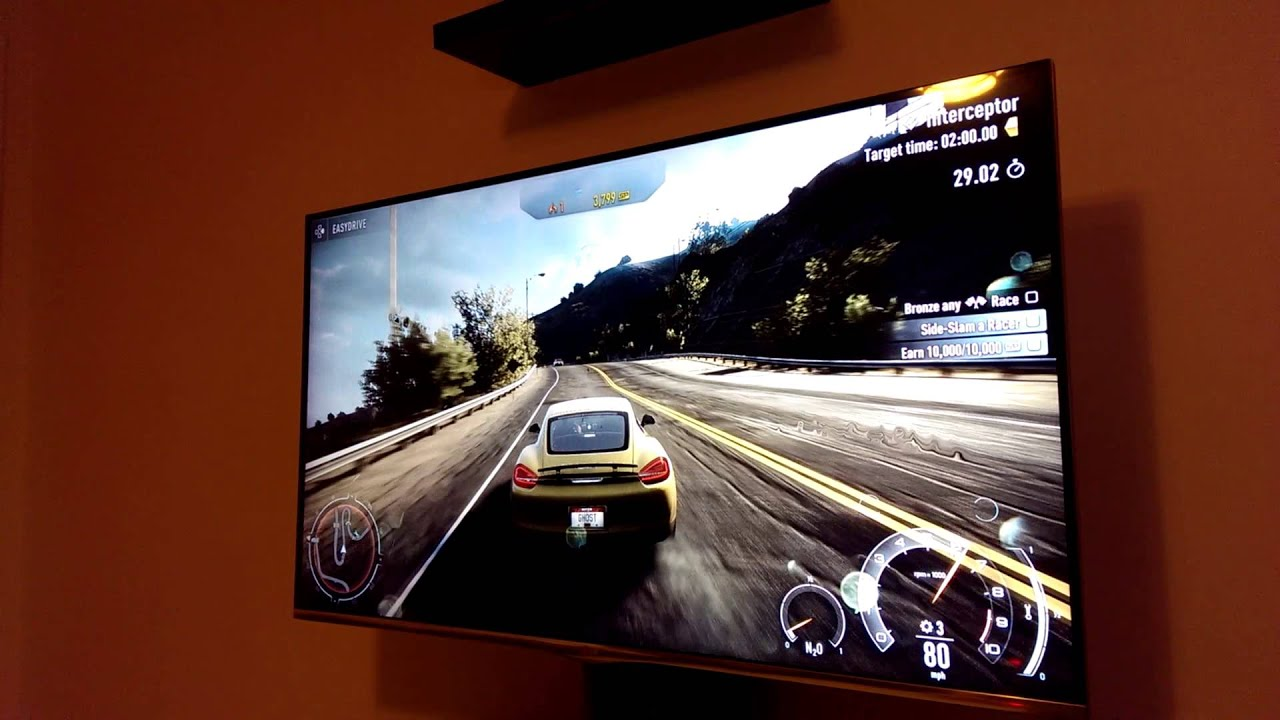 Playstaion 4 on quot 55 quot lg led tv youtube