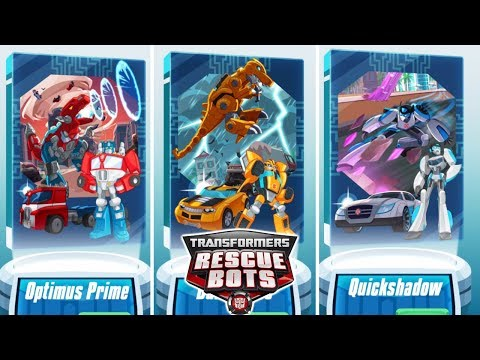 Transformers Rescue Bots: Disaster Dash - Unlocked Optimus Prime, Bumblebee And Quickshadow
