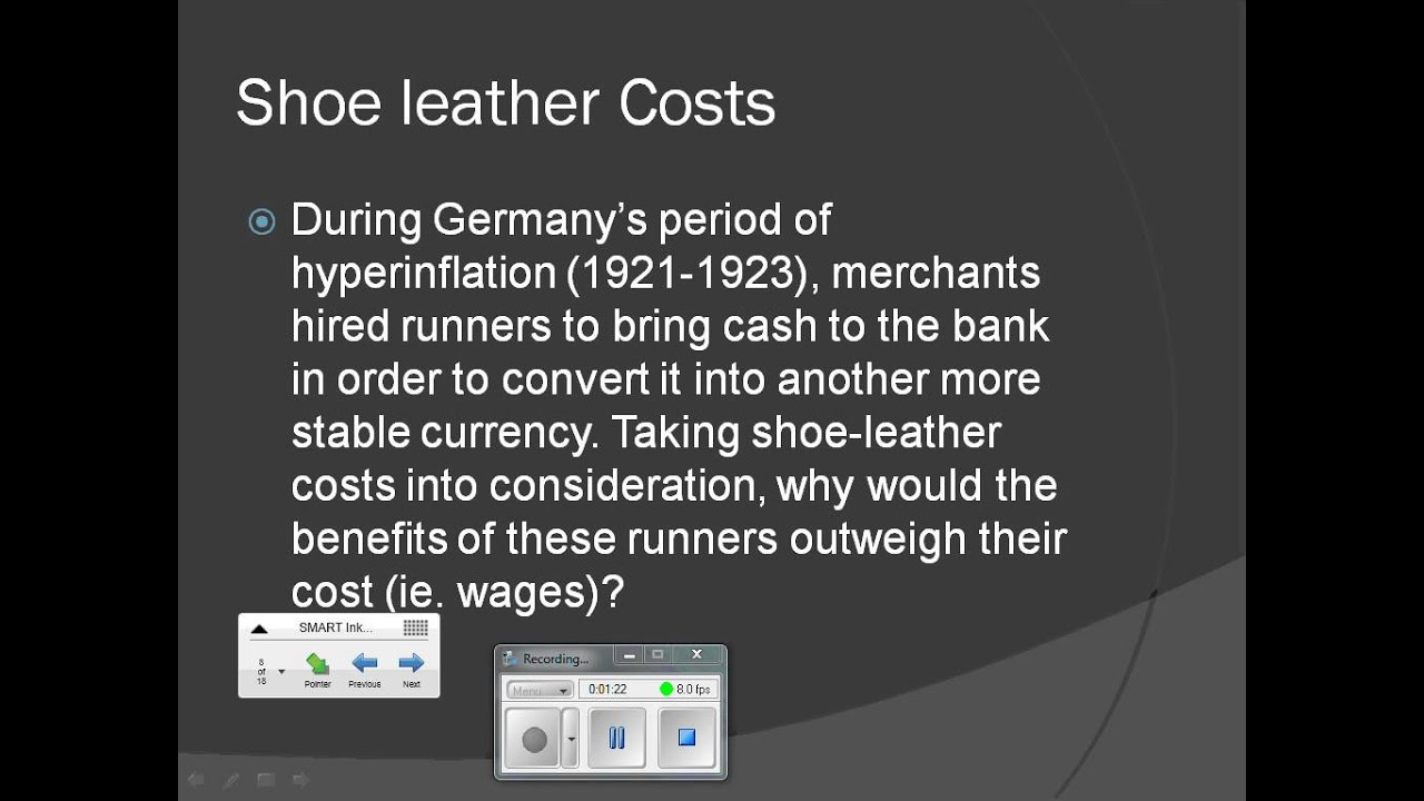 shoe leather costs