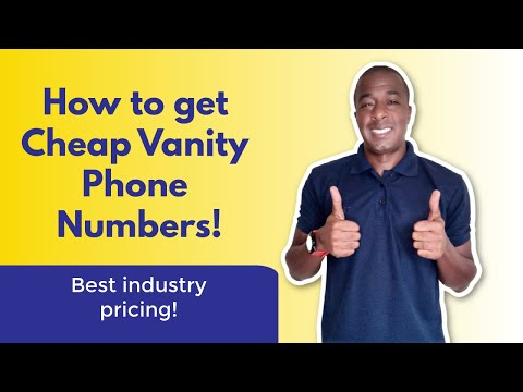 How To Get CHEAP Vanity Phone Numbers!