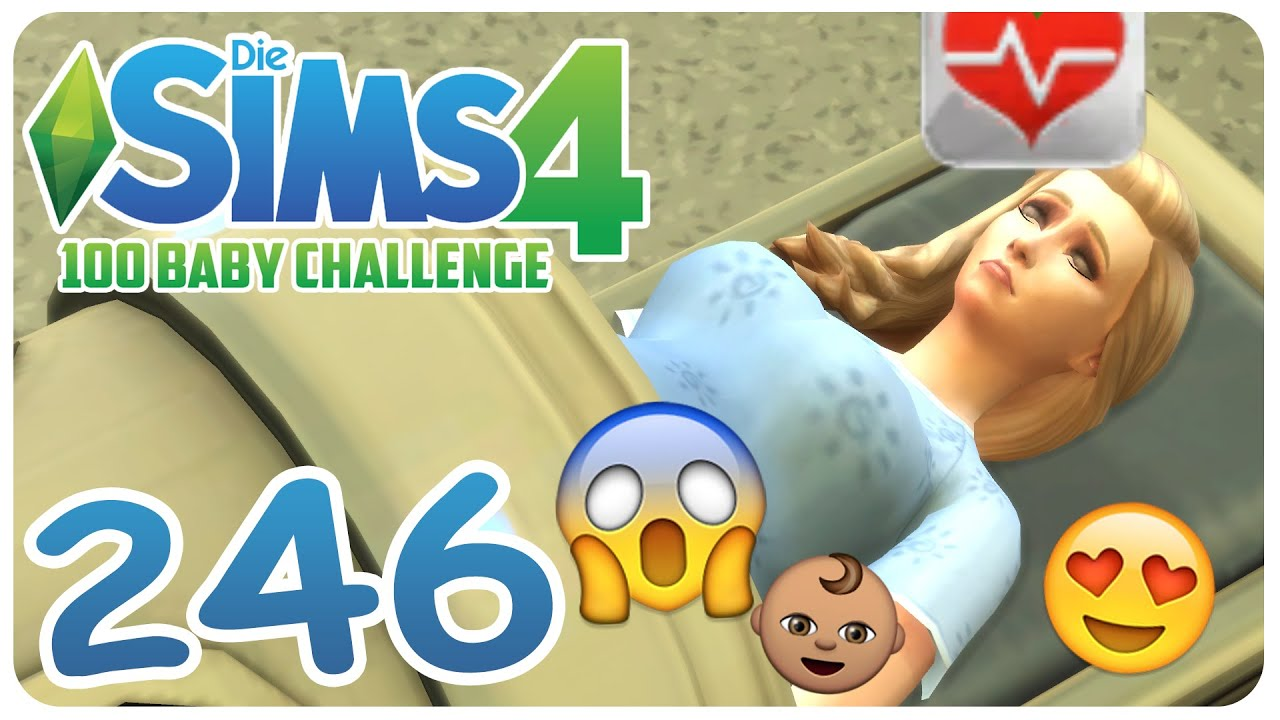 Die Sims 4 100 Baby Challenge 246 Das Baby Kommt Lets Play