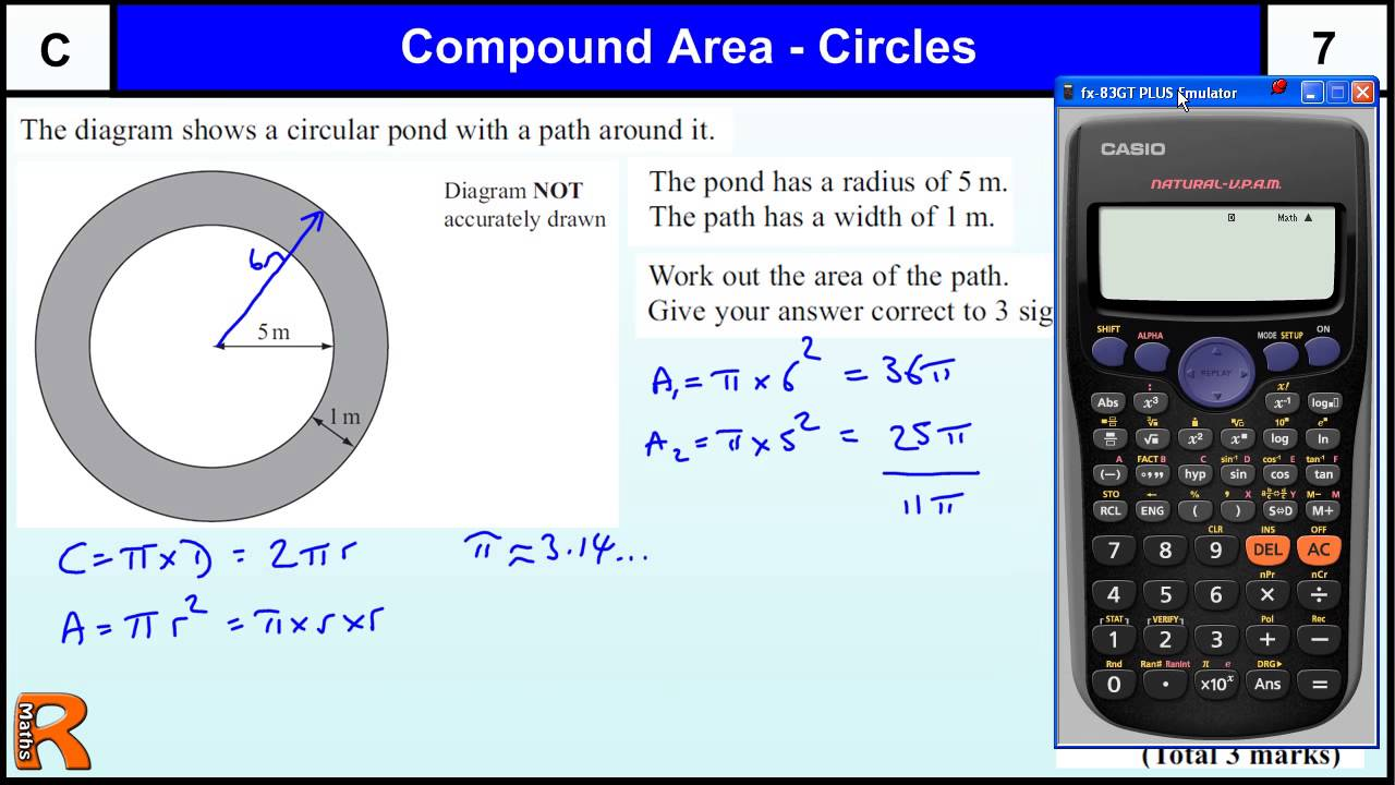 Area of circles (compound shapes) GCSE Maths Foundation revision ...