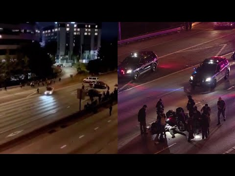 Two women hit by car on Seattle highway during protest