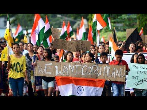 Jai Gorkha Jai Gorkhaland Unity Forum Organised A Peace Rally Darjeeling