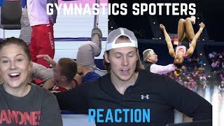 Gymnastics Spotters Saving Epic Fails *SCARY* | Shawn Johnson