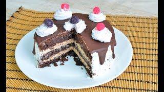 Шоколадный бисквитный торт рецепт