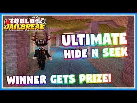 🔴 ULTIMATE HIDE N SEEK WITH NEW JAILBREAK UPDATE!   Winner Gets Prize!   Roblox Jailbreak  