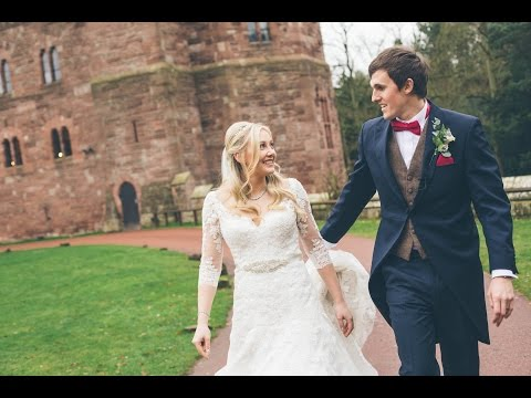 Georgie + Tom's Sneak Peek | Relaxed Traditional Christmas Wedding | Peckforton Castle, Cheshire UK