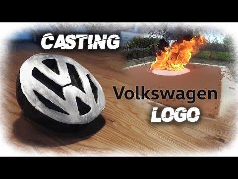Making Volkswagen Logo Aluminum