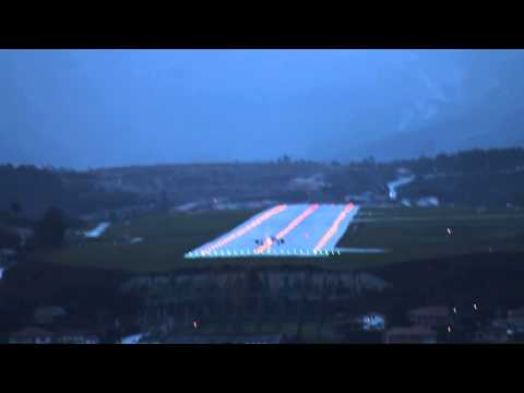 Despegue Aeropuerto de Alvedro (LECO) -A Coruña- ciclogénesis explosiva dic 2013