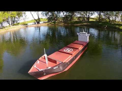 Landing Drone on RC Cargo Ship