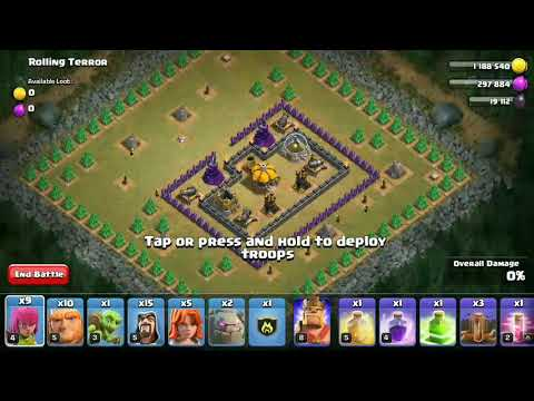 Clash of clans level 47 Rolling Terror COC without P.E.K.K.A.