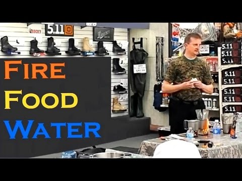 The Fire, Food, and Water Connection - Wilderness Survival Class