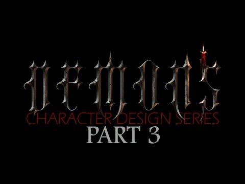 DEMONS – Character Design Concept Art Tutorial – Part 3