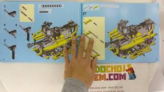 Hướng dẫn lắp ráp Lepin 20008 Lego Technic 8275 Motorized Bulldozer giá sốc rẻ nhất