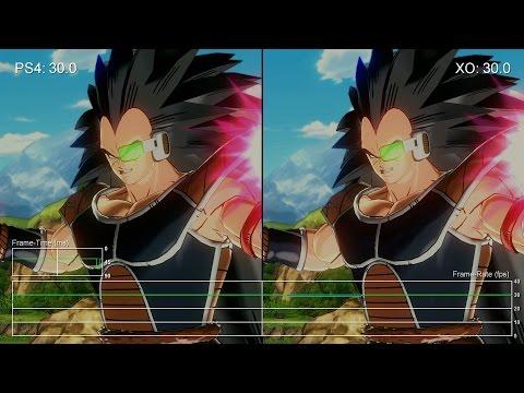 Сравнение качества текстур и частоты FPS игры Dragonball Xenoverse на Xbox One и Playstation 4