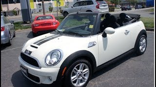 2015 Mini Cooper S Convertible Walkaround, Start up, Tour and Overview