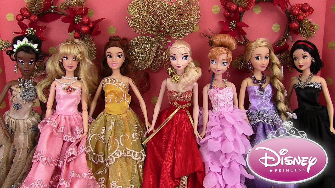 Disney Princesses Robes de Princesses Poupées Barbie Dolls Dresses Noël  2015 Madame Récré
