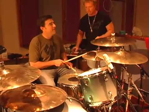 Joey Kramer drum lessons for Wyc Grousbeck at Pandoras Box 2008