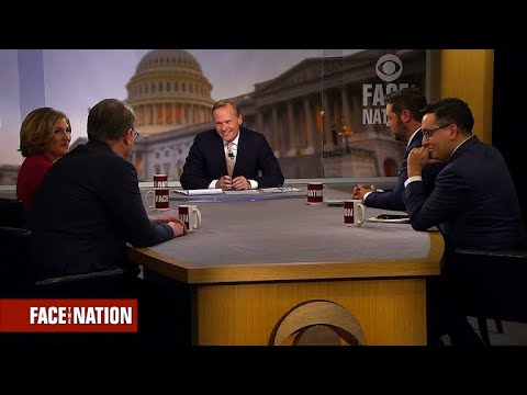 Political panel thanks John Dickerson during his last broadcast
