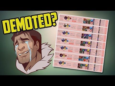 I GOT DEMOTED? ( 7 Game Losing Streak :( )- Ranked Journey 16 (League of Legends)