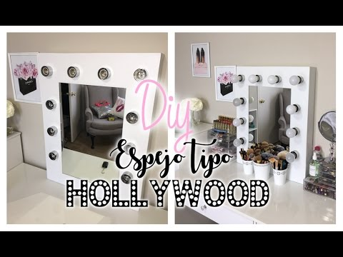 Diy espejo tocador con luces vanity mirror with lights doovi - Tocador con espejo y luces ...