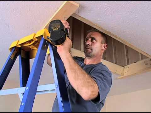Werner Wood Attic Ladders - Long Installation Video  sc 1 st  YouTube & Werner Wood Attic Ladders - Long Installation Video - YouTube