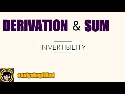 derive invertible ability in z transform and solved sum