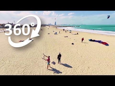 (4K) 360: Kites flying high above Dubai's Kite Beach – Visit Dubai