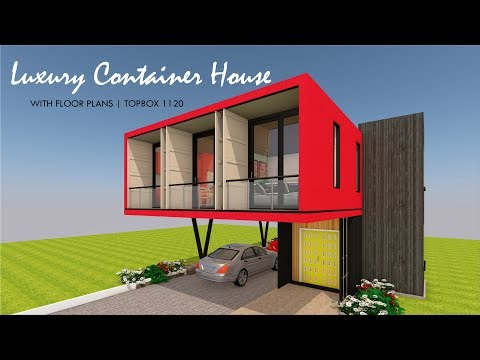 Shipping Container Luxury House Design Floor Plan- TOPBOX 1120