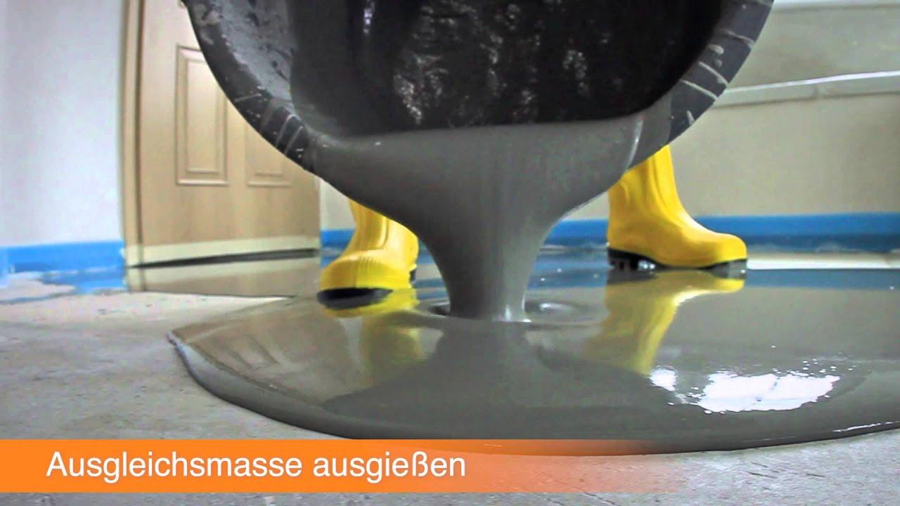 Erstaunlich DIY Handbuch Fliese Boden 02 Untergrund ausgleichen 1080p - YouTube GJ45