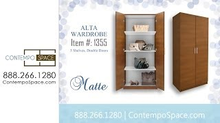 Alta Wardrobe Cabinet - 3 Shelves, Double Doors | Item #: 1355