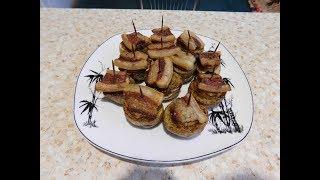 Запекаем в духовке картошку с салом и луком!!! Пальчики оближешь!!!