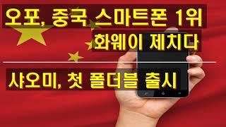 오포 중국 스마트폰 1위 화웨이 제쳤다 샤오미 첫 폴더…