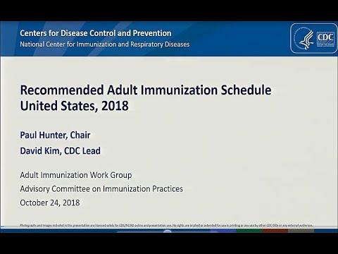 October 2018 ACIP Meeting - Adult & Child/Adolescent Immunization Schedule