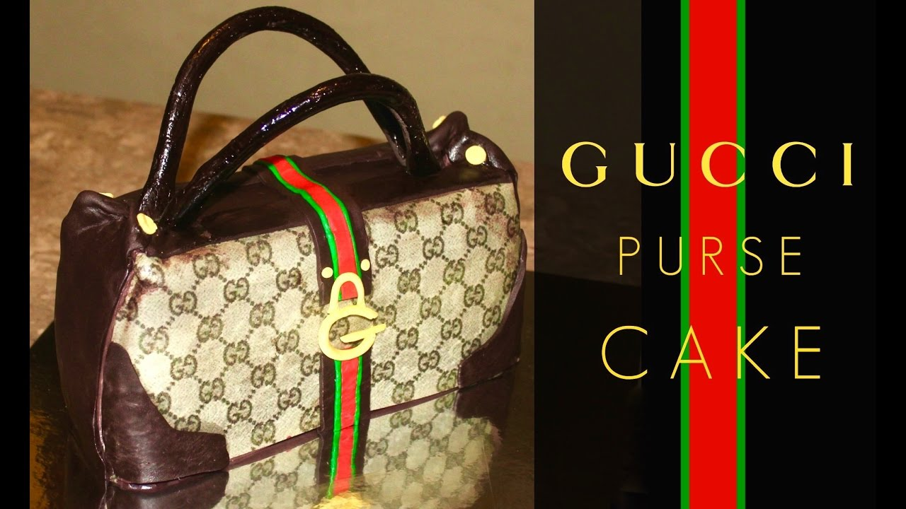 How To Make A Gucci Purse Cake