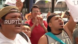 Mexico: Hundreds march against rising petrol prices in Mexico City