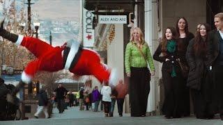 Breakdancing Santa Claus
