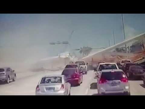 FIU BRIDGE collapse live 6 dead(Momento exacto cuando puente FIU se colapsa en vivo)