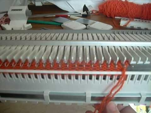 utilisation de machine à tricoter grosse laine singer (ou bigphil maximaille)