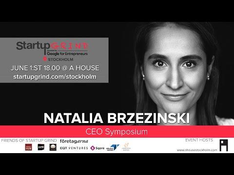 Natalia Brzezinski at Startup Grind Stockholm