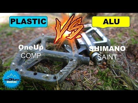 Pédales plates VTT - Pour 40€ : Plastique ou Alu? / Shimano Saint VS OneUp Components