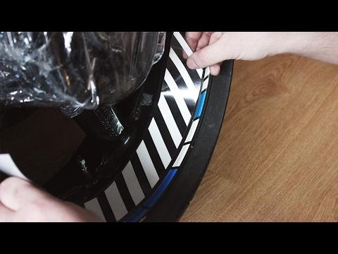 Как правильно приклеить наклейки на диск мотоцикла