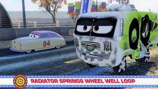 Cars 3: Driven to Win Stunt Showcase - Radiator Springs Wheel Well Loop - Gameplay HD