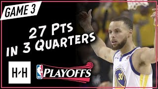 Stephen Curry Full Game 3 Highlights vs Rockets 2018 NBA Playoffs WCF - 27 Pts in 3 Quarters!