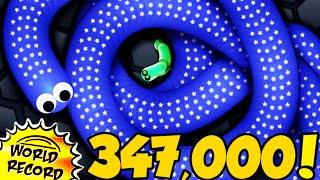 Gambar cover 347,000K RECORD MONDIALE! - SLITHER.IO (Favij vs Campione del Mondo)