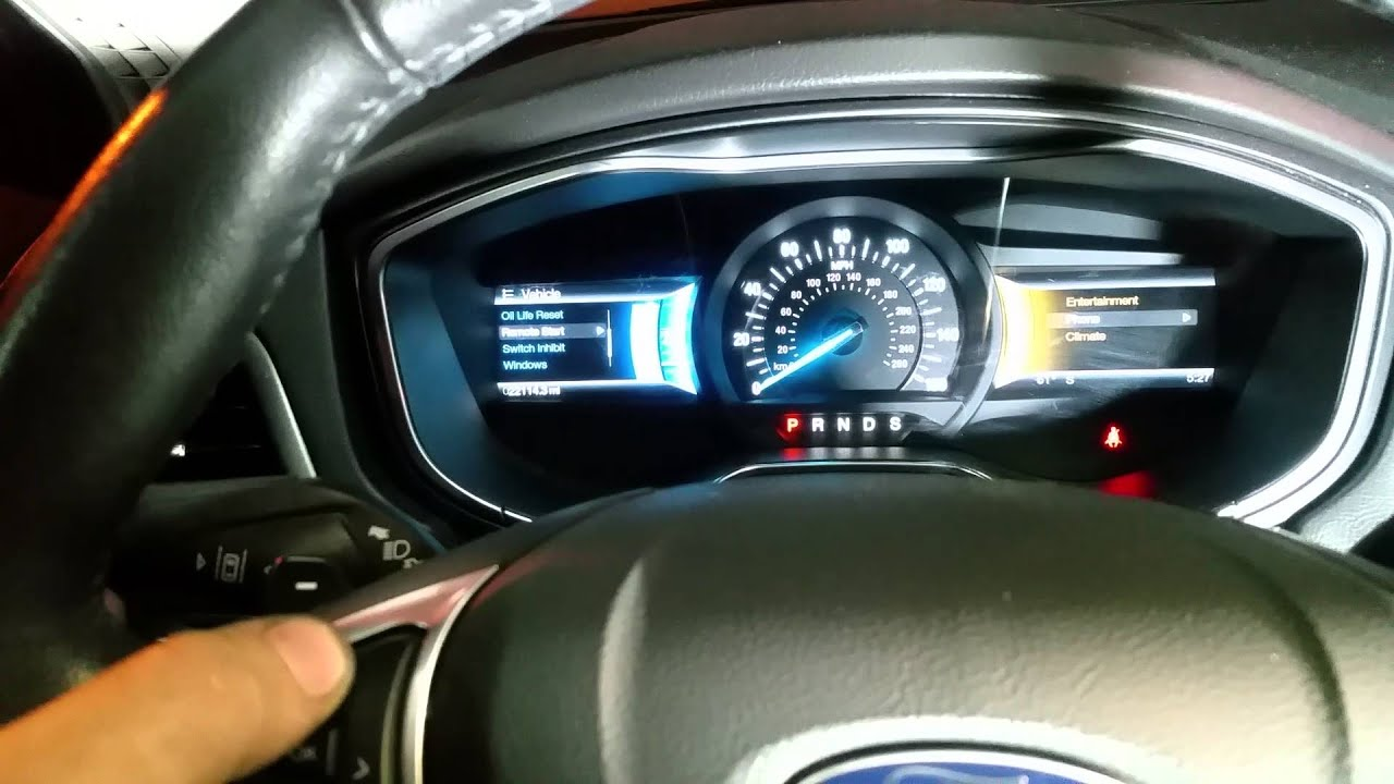 How To Reset Oil Life Change Light On 2013 2018 Ford Fusion