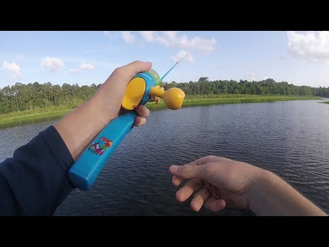 KIDDIE POLE Fishing Tournament!!! Loser Almost THROWS UP!
